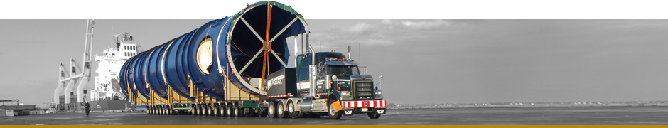 Specialized transportation for large projects